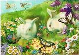 PUNCH STUDIO イースター グリーティングカード  <ウサギ×フラワー>