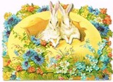 PUNCH STUDIO イースター グリーティングカード  <たまご×ウサギ>