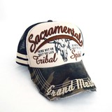 Candy Embroidery Patch Attached Damage Processing Trucker Hat