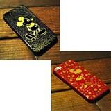 【Disney】本漆 iPhone 5 カスタムカバー ミッキーマウス【iPhone SE/5s/5対応】