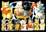 Ernst Freihoff スクラップシート <猫×ハート> *クロモス