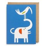 【Bengt & Lotta (ベングト&ロッタ)】 ミニグリーティングカード743 Elephant and bird