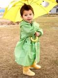 【定番】【雨の日を楽しむ】カエル窓付き傘<ベビー・キッズ>入園入学