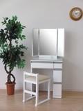 予約販売!次回入荷7月13日入荷 ドレッサー&チェア 3面鏡 幅60cm(ホワイト)【JO-16】