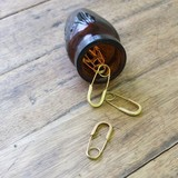【定番】[ブラス]セーフティピン 素朴な手作り安全ピン