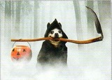 AVANTI PRESS グリーティングカード ハロウィン 犬 かぼちゃ 鎌