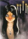 AVANTI PRESS グリーティングカード ハロウィン 猫 魔女 キャンドル