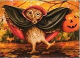 AVANTI PRESS グリーティングカード ハロウィン  ふくろう コウモリ かぼちゃ