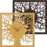 Tree Silhouette Wall Clock Natural Taste Wall Clock Wooden