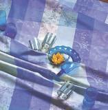 <特価商品>■【GARNIER THIEBAUT】ミルカラー アジュール テーブルクロス