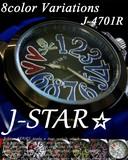 新作☆J-STAR☆ラバー ドクロ&ハート ユニセックスウォッチ ◇男女兼用腕時計 J-4701R