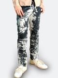 Dust Processing Denim Men's Long Pants Bottom Slim