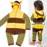 BABY☆ミツバチ&てんとう虫フリースロンパース【カバーオール】
