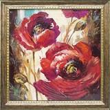ブレント ヘイトン アートフレーム【赤い花柄】花/フラワー<樹脂フレーム>