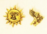 太陽&キューピッドの【ブラスペンダントトップ】