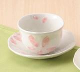 ■【一服碗】泉文山粉引桜皿付一服碗