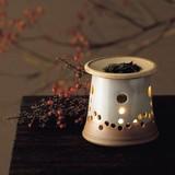 お部屋の消臭に!■常滑焼【茶香炉】盛正白掛分茶香炉