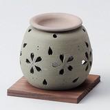 お部屋の消臭に!■常滑焼【茶香炉】石龍緑桜茶香炉