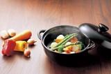 <特価商品>■常滑焼【耐熱陶器】富仙黒釉蒸し鍋