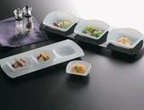 <特価商品>■【硝子/皿】三ツ花プレート/白小鉢