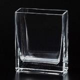 <特価商品>■【硝子/花瓶】クリア角型花瓶