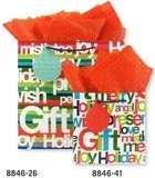 THE GIFT WRAP COMPANY クリスマスペーパーギフトバッグ <英語×カラフル>