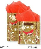 THE GIFT WRAP COMPANY ペーパーギフトバッグ <鳥×森>