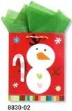 THE GIFT WRAP COMPANY クリスマスペーパーギフトバッグ <雪だるま>