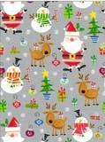 THE GIFT WRAP COMPANY ジャンボラッピングペーパー クリスマス <サンタ×トナカイ×ツリー> 包装紙