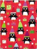 THE GIFT WRAP COMPANY ジャンボラッピングペーパー <ペンギン×プレゼント> 包装紙