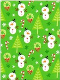 THE GIFT WRAP COMPANY ジャンボラッピングペーパー クリスマス <雪だるま×ツリー> 包装紙