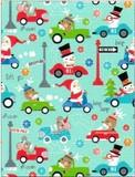 THE GIFT WRAP COMPANY ジャンボラッピングペーパー クリスマス <サンタ×雪だるま×トナカイ> 包装紙