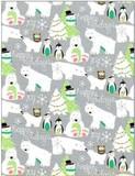 THE GIFT WRAP COMPANY ジャンボラッピングペーパー クリスマス <ツリー×クマ> 包装紙