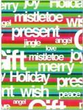 THE GIFT WRAP COMPANY ジャンボラッピングペーパー クリスマス <英語×カラフル> 包装紙