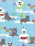 THE GIFT WRAP COMPANY ジャンボラッピングペーパー クリスマス <クマ×結晶> 包装紙