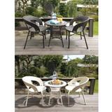 【ラタン家具】 ガーデン3点セット ≪1テーブル+2チェアー≫(直送可能)
