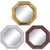 【壁掛け】ミラー 鏡 八角型(小) ≪アンティーク調≫(直送可能)