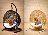 【ラタン家具】【ハンギングチェアー】ペット用 犬 猫 ミニ ハンギング ゆりかご椅子(直送可能)
