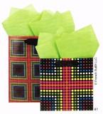 The Gift Wrap Company ペーパーギフトバック<ドット/ドットクロス>
