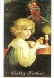 ART UNLIMTED クリスマスポストカード<女の子>
