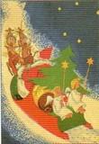 ART UNLIMTED クリスマスポストカード<サンタ×天使>