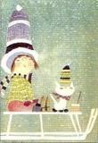 ART UNLIMTED クリスマスポストカード <女の子×ぼうし>