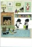 ART UNLIMTED クリスマスポストカード <暖炉×子ども>