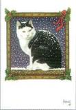 ART UNLIMTED クリスマスポストカード <猫×スノー>