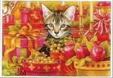 ART UNLIMTED クリスマスポストカード <猫×プレゼント>