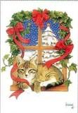 ART UNLIMTED クリスマスポストカード <猫×ツリー>