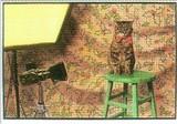ART UNLIMTED ポストカード <猫×イス>