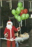 ART UNLIMTED クリスマスポストカード <サンタ×風船>
