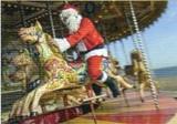 ART UNLIMTED クリスマスポストカード <サンタ×メリーゴーランド>