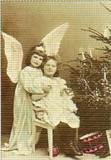 ART UNLIMTED クリスマスポストカード <天使×ツリー>